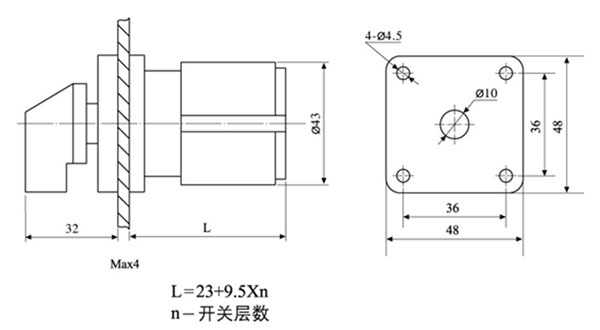 adi-20定位自复型转换开关广泛应用于电气控制屏柜